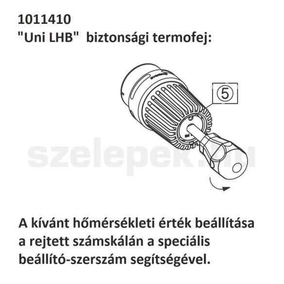 """OVENTROP """"Uni LHB"""" vandálbiztos termofej, fehér kivitel, M30x1,5 mm (1011410)"""