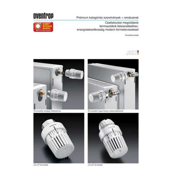 "OVENTROP ""Uni LH"" termofej, fehér kivitelben, M30x1,5 mm (1011465)"