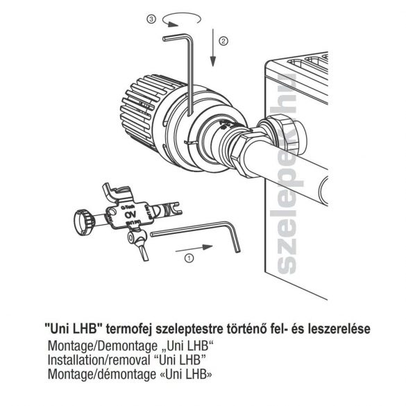"""OVENTROP univerzális szerszám, verz. 2018 [""""Uni LHB"""" / AV 9"""" / """"AQ""""] (1011489)"""