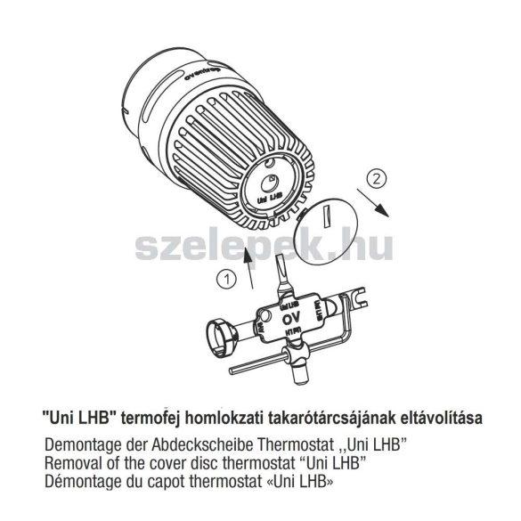 """OVENTROP univerzális beállítókulcs, verz. 2008 [""""Uni L"""" / """"Uni LH"""" / """"Uni LHB"""" /  """"AV 6""""] (1011496)"""
