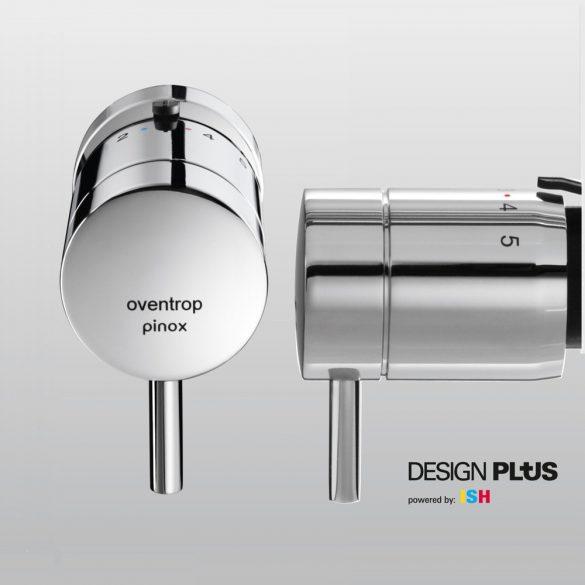 "OVENTROP ""pinox D"" Design-termofej, Danfoss ""klapp"" körmös szorítókötéssel, krómozott kivitel (1012175)"