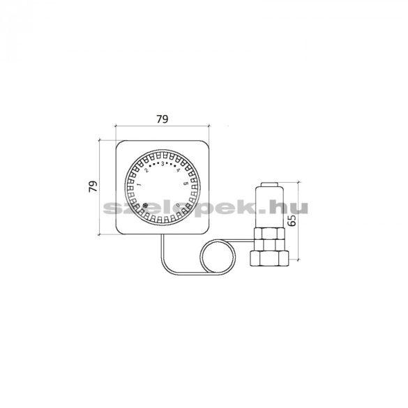 """OVENTROP """"Uni FH"""" távállításos termosztatikus szabályozó, 2,0 m-es kapilláris-csővel szerelve, fehér, M30x1,5 mm (1012295)"""