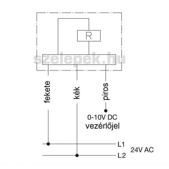 """OVENTROP """"Aktor T ST"""" L NC elektrotermikus hajtómű, M30 x 1,5, 24 V, (0-10V), áramkimaradásra záró (1012953)"""