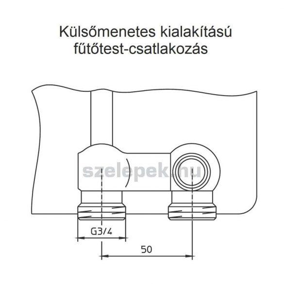 """OVENTROP """"Multiflex F"""" ZB golyóscsap-blokk, kétcsöves fűtési rendszerekhez, 3/4"""" hollandi x 3/4"""" km., PN10, sarok kivitelben (1015814)"""