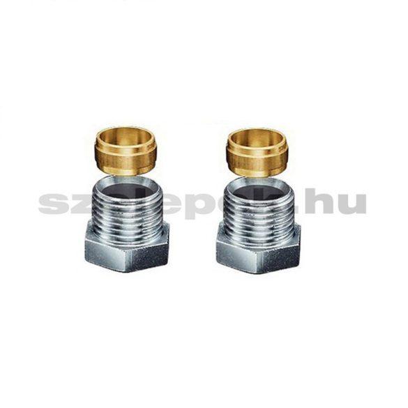 """OVENTROP """"Ofix CEP"""" G1/2x15[mm] szorítógyűrűs csavarzat belsőmenetes fűtőtestszerelvényekhez, PN10, párban (1016853)"""