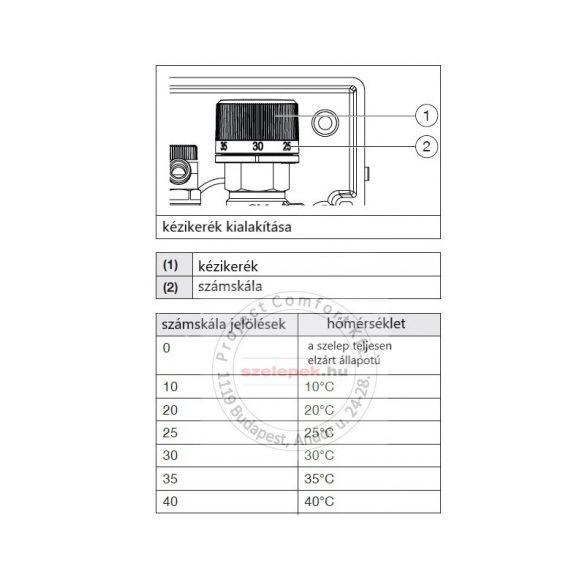 """OVENTROP  """"Unibox E-RTL"""" termosztatikus szabályozó padlófűtéshez, PN10, fehér műanyag takarólemezzel (1022731)"""