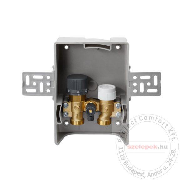 """OVENTROP """"Unibox T RTL"""" termosztatikus szabályozó padlófűtéshez, PN10, fehér, edzett üveg takarólemezzel (1022770)"""