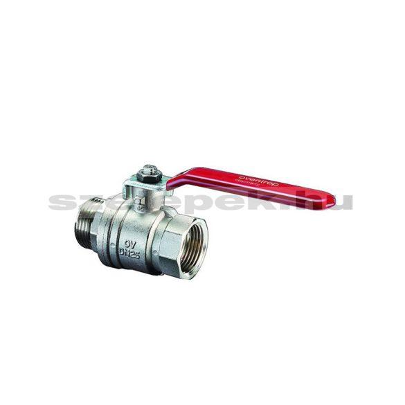 """OVENTROP DN15 """"Optibal"""" golyóscsap, PN16, műanyag-bevonatos acélkarral, külső-/ belsőmenetes (KB) kivitelben (1076204)"""