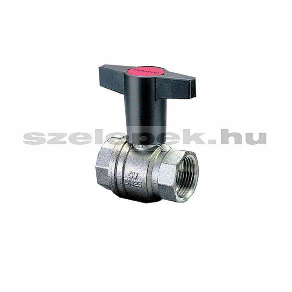 """OVENTROP DN25 """"Optibal"""" golyóscsap, PN16, hosszabbított kivitelű műanyag fogantyúval, belsőmenetes (BB) kivitelben (1077108)"""