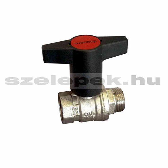 """OVENTROP DN15 """"Optibal"""" golyóscsap, PN16, hosszabbított kivitelű műanyag fogantyúval, külső- /belsőmenetes (KB) kivitelben (1077304)"""
