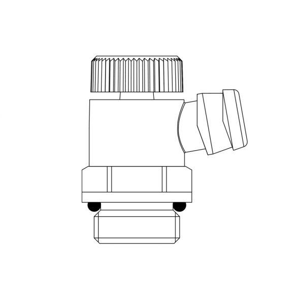 """OVENTROP G1/2 ürítőszelep radiátorokhoz, PN10, 3/8"""" méretű tömlőcsatlakozáshoz"""