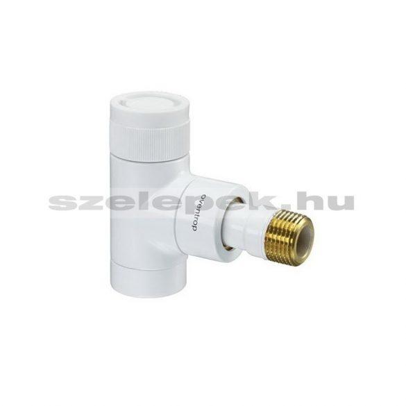 """OVENTROP DN15 (1/2"""") fehér, sarok, """"E"""" típusú, exkluzív fűtőtestszelep, PN10, M30 x 1,5 mm (1163062)"""