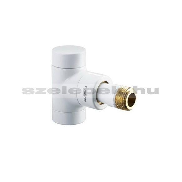 """OVENTROP DN15 (1/2"""") fehér, sarok """"Combi E"""" típusú, exkluzív visszatérő fűtőtest-szelep, PN10 (1166062)"""