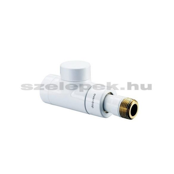 """OVENTROP DN15 (1/2"""") fehér, egyenes, """"Combi E"""" típusú, exkluzív visszatérő fűtőtest-szelep, PN10 (1167062)"""