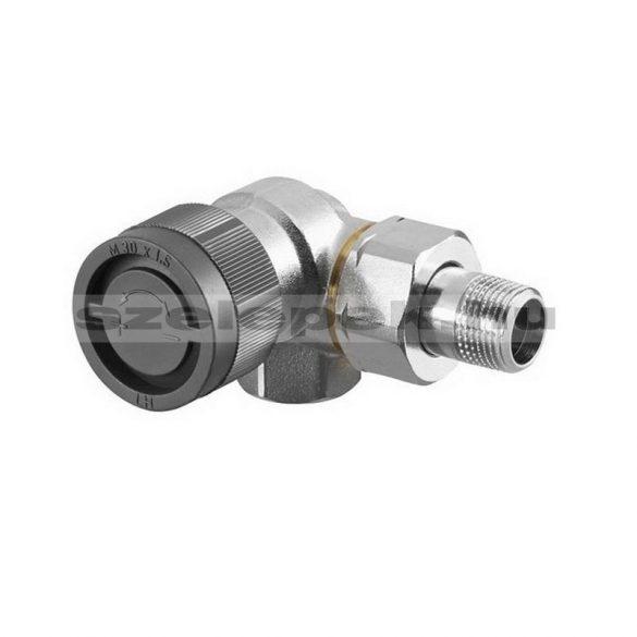 """OVENTROP DN15 (1/2"""") """"A"""" tip. termosztatikus fűtőtestszelep, PN10, térsarok, balos kivitel, M30x1,5 mm (1181392)"""