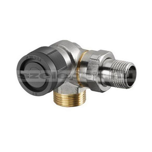 """OVENTROP DN15 (1/2"""") """"A"""" tip. termosztatikus fűtőtestszelep, PN10, térsarok, balos, külsőmenetes kivitel, M30x1,5 mm (1181396)"""