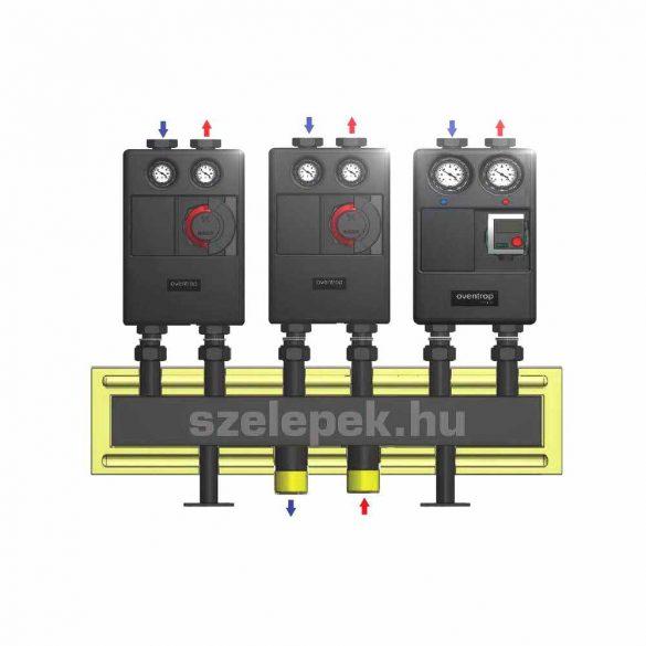 """OVENTROP DN25 """"Regumat"""" moduláris osztó-gyűjtő acélból, 3 db Regumat modulhoz"""