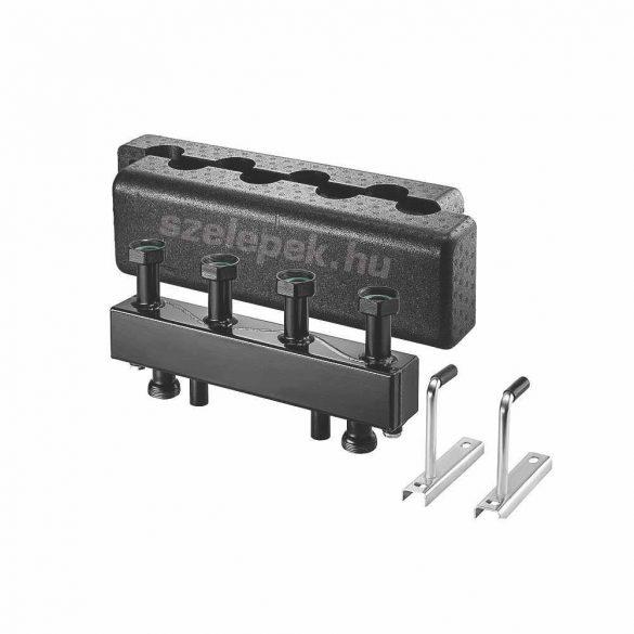 """OVENTROP DN25 """"Regumat"""" moduláris osztó-gyűjtő acélból, 4 db Regumat modul-egységhez"""