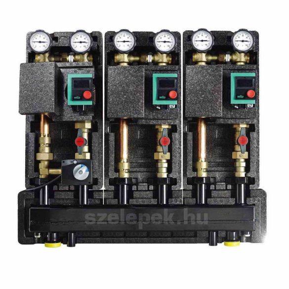 """OVENTROP DN32 """"Regumat"""" moduláris osztó-gyűjtő acélból, 3 db Regumat modulhoz (1351673)"""