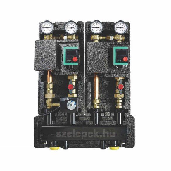 """OVENTROP DN25 """"Hydrofixx"""" hidraulikus váltóval kombinált moduláris osztó-gyűjtő, acélból, 2 db """"Regumat"""" modul beépítéséhez (1351698)"""