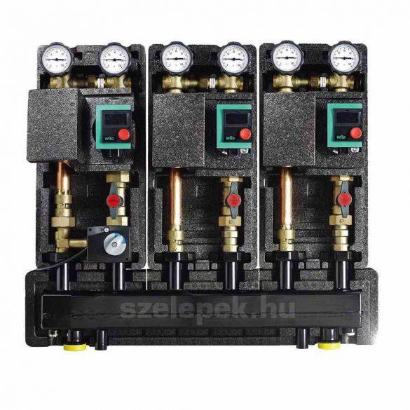 """OVENTROP DN25 """"Hydrofixx"""" hidraulikus váltóval kombinált moduláris osztó-gyűjtő, acélból, 3 db """"Regumat"""" modul beépítéséhez (1351699)"""