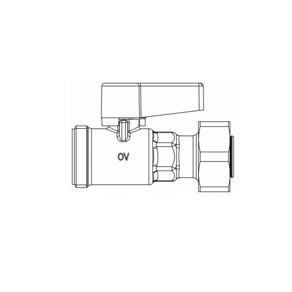 """OVENTROP Golyóscsap, DN15, """"Multidis SF"""" osztó-gyűjtők áramköreinek elzárásához (1406504)"""