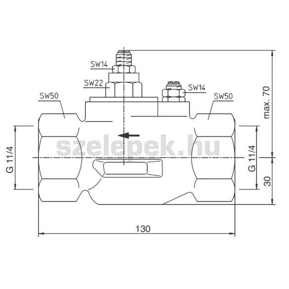 OVENTROP DN32 multifunkciós keverőszerelvény, PN10, vízlágyító berendezésekhez (6102010)