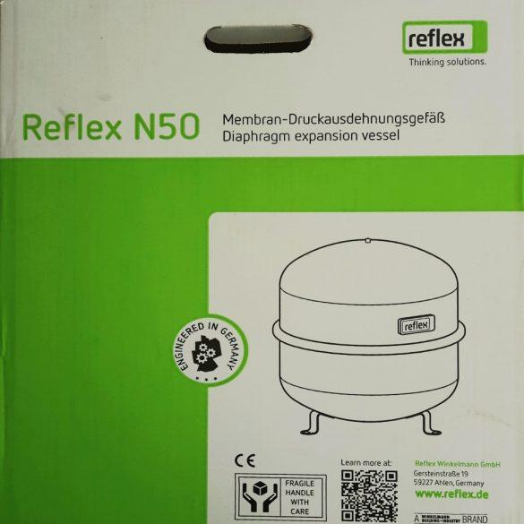 """REFLEX """"N 80"""" típusjelű membrános tágulási tartály, 80 literes, P 6,0 bar, szürke színben (8210200)"""