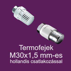Termofejek 30x1,5 mm-es hollandis csatlakozással