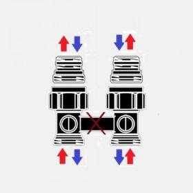 golyóscsap-blokkok kétcsöves rendszerekhez
