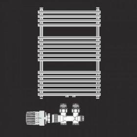 fürdőszobai csőradiátorok szerelvényezése